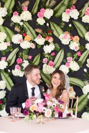 Wedding Inspiration with a Live Floral Backdrop - photo by Amy & Jordan Photography http://ruffledblog.com/wedding-inspiration-with-a-live-floral-backdrop